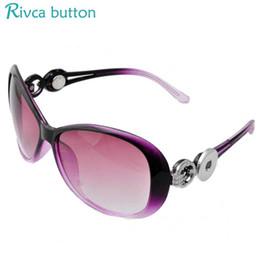 Wholesale Fit Sunglasses - Newest Designer Snap Button Sunglasses Women Fashion Summer Cats Eye Sun Glasses Eyewear Fit 18 20mm diy Snap JEwelry P00931