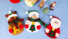 niños guantes amarillos Rebajas Santa Claus cubiertos de mesa cubiertos de cuchillo y tenedor decoraciones de Navidad