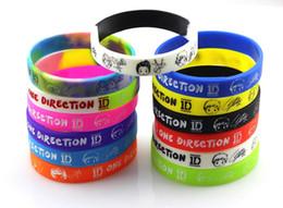 Wholesale One Direction Bracelets Rubber - Brand New 24PCs One Direction 1D Kids Children's Silicone Rubber Band Wristbands Bracelets wholesale mixed lots