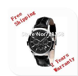 Wholesale Black Japan Movement Watch - free hk shipping _Absolute luxury New AR2447 2447 Quartz Chronograph mens Watch Japan Movement Gents Wristwatch +original box