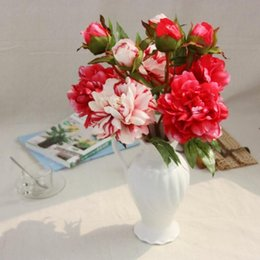 Wholesale Display Felt - Artificial peony flower moisturizing feel wholesale artificial flowers wedding bouquet and home decoration free shipping SP05