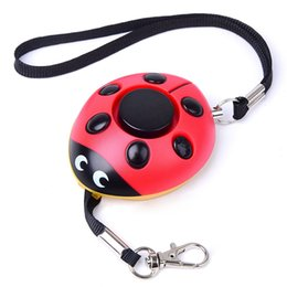 Wholesale Wireless Siren Wholesale - Beetle Personal Alarm 120dB Self-Defense Siren Key Chain Purse Decoration SOS LED Emergency Rape Attack Safety Protection for Kids,Girl