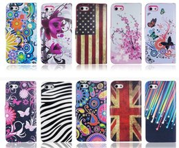 Wholesale Zebra Iphone Wallet Wholesale - Fashion Flower UK US Flag Zebra Wallet PU Flip Leather Case Cover With Card Slots Stand Holder For Samsung Galaxy and for iphone6 6s and iph