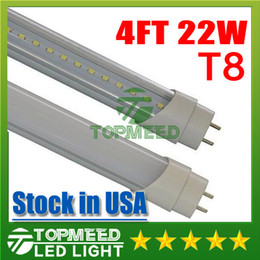 Wholesale Epistar Smd2835 - Stock in USA UL 1.2m 4ft 22W Led T8 Tube Lights SMD2835 High Bright light 2400lm Frosted Transparent Cover 85-265V fluorescent lighting