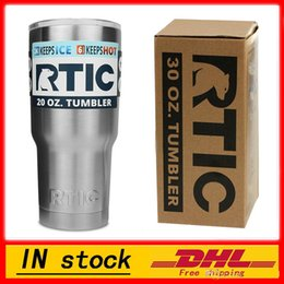 Wholesale Wholesale Plastic Travel Mugs - (In Stock ) - RTIC 20oz Stainless Steel Cup Travel Mug Tumbler Cup Cooler Double Wall Vacuum Insulated Cups