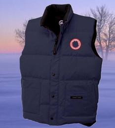Wholesale Men Vests Cotton Outdoor - 2017 winter down vest Canada warm cold wind waterproof outdoor men's down vest Sleeveless coat keep warm down waistcoat