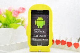 Wholesale Minions Cell Case - Top Quality 3D Minions Phone Silicone Soft Cell Phone Case Cover For Samsung Galaxy Ace S5830 S5830i GT S5830 Cases Gel Shell
