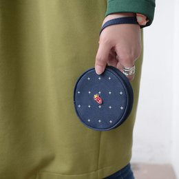 Wholesale Fun Canvas - Wholesale- KIITOS LIFE Canvas printed round coin purses in FLIGHT series originally designed(FUN KIK)