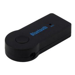 Wholesale Mobile Streaming Music - 2016 Universal Mini 3.5mm Streaming Car Wireless Bluetooth Audio Music Receiver Adapter Handsfree Car AUX with Mic For Phone MP3