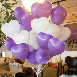 Wholesale Latex Free Balloons Freeshipping - NEW hot Sale Fashion 100pcs lot 25cm 10inch Heart Shape Latex Decal Balloons Party Wedding crative Toy Ballons Free shipping Papelaria