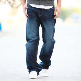 calças largas de algodão homens Desconto Atacado-2016 homem de verão calças de brim Baggy Plus Size 27-48 calças de calças de ganga de lazer solta de algodão em linha reta calças compridas de algodão Mens Bottoms