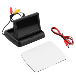 "Wholesale Car Reverse Parking Camera - Wholesale-Car LCD Monitor 4.3"" Foldable Color LCD Monitor Car Reverse Rearview 4.3"" Parking System LCD Monitor for Car Rear view Camera"