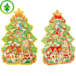 Wholesale Vip Stickers - 52cm*34cm Boutique Christmas Tree Dimensional Stickers Christmas decoration large order will have VIP price for wholesale 15 days to USA
