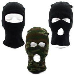Wholesale Design Headgear - Wholesale- 3 style Design Ski Face Mask Hat Headgear Motorcycle Cycling Outdoor Sports Balaclava UV Protection Head Cover 3 color