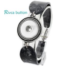Wholesale Hot Bangle Designs Gold - Wholesale-P00704 Hot wholesale Snap Button Bracelet For Women Newest Design Fashion Magnetic Charm Bangles 18mm Rivca Snap Button Jewelry
