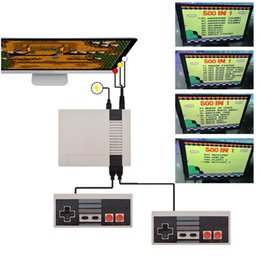Wholesale Game Gba - Epacket 1Pcs UP Engilsh Version Retail Box Classic Mini TV Video Handheld Game Console 500 Built-in Games For NES Games