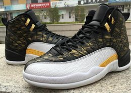 Wholesale Up Wings - Wholesale RETRO 12 OVO Basketball Shoes Retro 12s Wings Sports Shoes Retro XII Master Men Sneakers the Black gold womens Athletics Boots