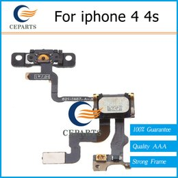 Wholesale Iphone 4s Volume Buttons - For iphone 4 4s Power On Off Mute Switch Volume Buttons Power Button Flex Cables Ribbon iphone Replacement Repair Parts