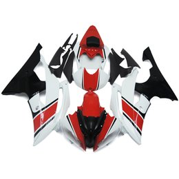 Wholesale Injection Yamaha R6 - White Pearl Red Complete Fairings For Yamaha YZF600 R6 08 - 15 Year 2008 2009 2010 2011 2015 Sportbike ABS Motorcycle Fairing KitBodywork