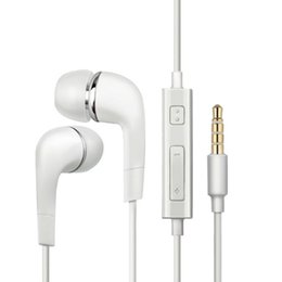 Wholesale Headphones Galaxy Note - 3.5mm Colorful In-Ear Earphone Headphone with Volume control and MIC Headset Earbuds For Samsung Galaxy S4 S5 S6 Note 5