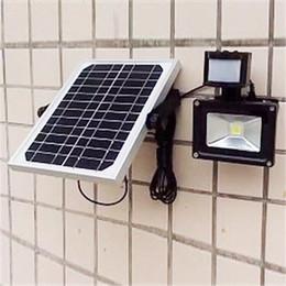 Wholesale Solar Power Led Outdoor Flood - LED Floodlight Solar Panel Power Lamp PIR Motion Sensor 5W 10W Outdoor Waterproof LED Flood lights IP65