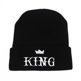 Wholesale Crown Gardens - Designer KING Letters Crown Embroidery Beanies Hats Hip Hop Word Winter Hat For Adults Mens Womens Head Ear Warmer Acrylic Knitted Snow Cap
