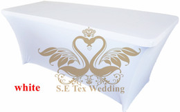 Wholesale Spandex Table Covering - White Color Lycra Spandex Table Cover \ Table Cloth For Wedding