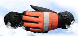 Wholesale Reflective Winter Gloves - Winter Warm Snow MTB Cycling Gloves men motorcycle Bicycle windproof waterproof Reflective ski gloves guantes ciclismo