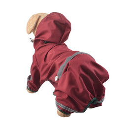 Wholesale Halloween Clothing Shirts - Free Shipping Pet Rain Coats Puppy Dog Clothes for Small Dogs Waterproof Raincoat Jacket Pet Products Teddy Chihuahua Ropa de Cachorro