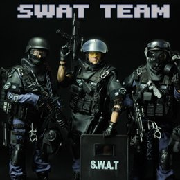 Wholesale Plastic Army Toys - 12'' Special Forces Action Figure - SWAT Military Army Combat Game Model Toy Soldier Police Force Weapon Set Action Figure 30cm Model Toys