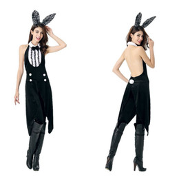 Wholesale Sexy Bunny Costume Cosplay - Halloween Cosplay rabbit role-playing nightclub bar sexy bunny costume uniform temptation
