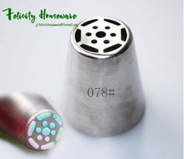 Wholesale Fda Form - A01RN008 Integral Forming Russian Flower Nozzles 8PCS Stainless Steel Icing Piping Nozzles Cupcake Rose Pastry DIY Cake Decorating Tips