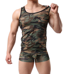 Wholesale Casual Male Camouflage Vest - New Hot Good Selling Boys Male Men Summer Casual Fashion Camouflage Sports Fitness Vest Tank Tops Clothes 2398
