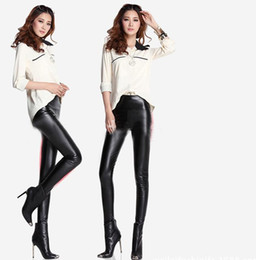 Wholesale Sexy High Waisted Hot Pants - Hot New Sexy High Waisted Womens Faux Leather Trousers Stretch Skinny Leggings Pants shipping