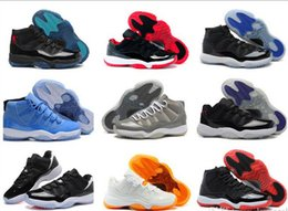 Wholesale Height Increasing Shoes China - HOT China free shipping basketball shoes bred cITRUS Retro 11 CONcord gamma blue legend blue Georgetown retro low us size 8 -13