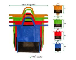 Wholesale Fabric Carts - FEDEX Reusable Shopping Bags Nonwoven fabric Grocery Cart Bags Grocery Tote with handle 4PCS A SET