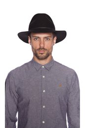 Wholesale Pure Jazz - Wholesale-100% Pure Wool Vintage Men Women Fedora Hats black Floppy Jazz Bowknot Felt Sun hat laday Panama Wide Hat Brim Gangster Cap 10