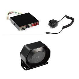 Wholesale Police Siren Speakers - 200W 8 Sound Loud Car Warning Alarm Police Fire Siren Horn PA Speaker MIC System Free shipping DHL WM092