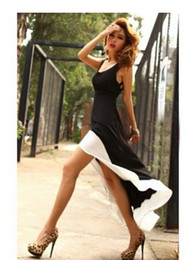 Wholesale Swallow Tail Hem - new women dresses Fashion Sexy Women Lady Deep U Neck Bare Back Backless Dress Hem Tank Swallow Tail Sleeveless Summer Long Dress