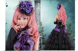Trajes de navidad vocaloid online-NUEVO Anime Vocaloid cosplay negro púrpura vestido Loro Rita traje de mucama disfraz de Halloween para mujer para fiesta / navidad