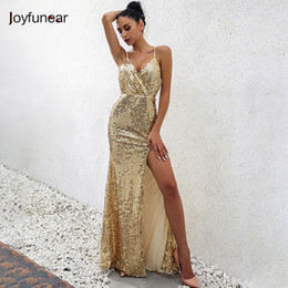 Wholesale Cross Back Maxi - Wholesale- winter christmas party sexy sequin maxi long dress Sleeveless strap v neck package hip cross back dresses club vestidos