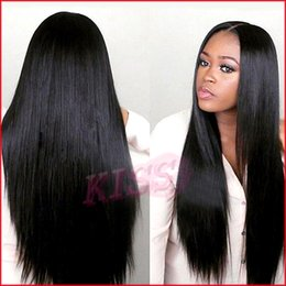 Wholesale Lace Front Wigs Fringe - New Arrival Peruvian Virgin Hair Full Fringe Wig Human Hair Glueless Full Lace Wig With Bangs Bleached Knots For Black Women