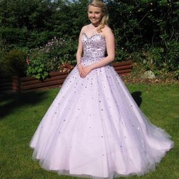 Wholesale High Quality Quinceanera Dresses - 2016 Ball Gown Prom Dress Long Sweet 16 Sweetheart Neckline Sleeveless Quinceanera Gowns with Crystals Custom Made High Quality Sweep Train
