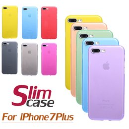 Wholesale Clear Lens Cover - For iPhone 7 0.3mm Ultra Thin Slim Matte Frosted Transparent Clear Soft PP Full Cover Lens Protection Case Cover for Iphone 7 Plus 6 6S 100p
