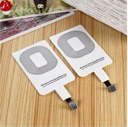 Wholesale Qi Wireless Receiver Iphone - NEW Qi Charger wireless Receiver Wireless Charging Adapter Receptor Receivers for iPhone 6 6s 5 5s