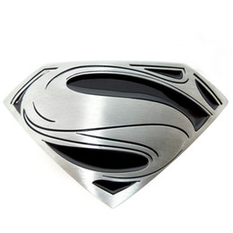Wholesale Black Superman Movie - Hot selling belt buckles fashion Superman belt buckle silver zinc alloy high quality plating rings women men western belt buckle DS13 182