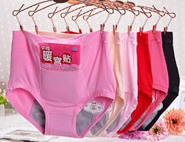 Wholesale Menstrual Bamboo - Wholesale ladies underwear bamboo fiber briefs for women high waist panties menstrual period underwear with pocket size L XL XXL