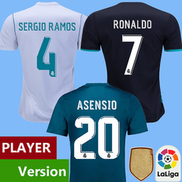 Wholesale Player version real madrid soccer jersey RONALDO BALE football shirt Real madrid Camisa ASENSIO SERGIO RAMOS maillot