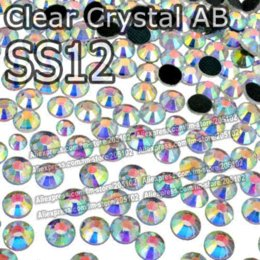 Wholesale Rhinestones Hot Fix Ss12 - SS12 3.0-3.2mm,1440pcs Bag Clear AB Crystal DMC HotFix FlatBack Rhinestones,DIY strass garment Hot Fix crystals strass stones M63185