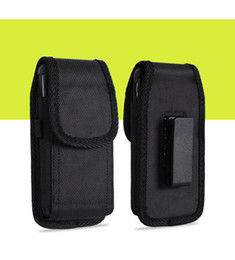 Wholesale For Galaxy S7 Note Universal Sport Nylon Leather holster Belt Clip Pouch phone Case Cover for iphone inch